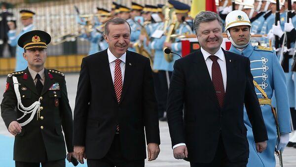 Recep Tayyip Erdogan và Petro Poroschenko - Sputnik Việt Nam