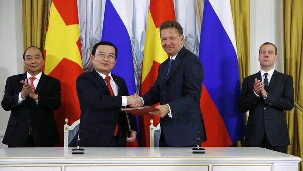 Gazprom và Petrovietnam đã ký một biên bản ghi nhớ trong lĩnh vực điện và khí đốt - Sputnik Việt Nam