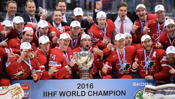 Cầu thủ đội Canada tại lễ trao giải Vô địch hockey thế giới - Sputnik Việt Nam