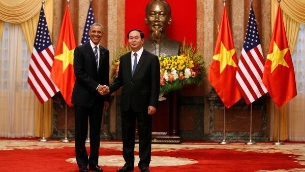 Barack Obama và Tran Dai Quang - Sputnik Việt Nam