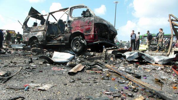 Hậu quả vụ đánh bom ở Syria - Sputnik Việt Nam