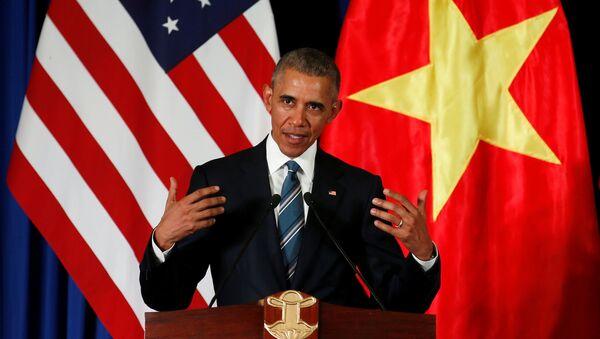 Президент США Барак Обама на пресс-конференции в Ханое - Sputnik Việt Nam