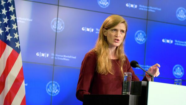 Đại sứ Mỹ tại Liên Hợp Quốc Samantha Power - Sputnik Việt Nam