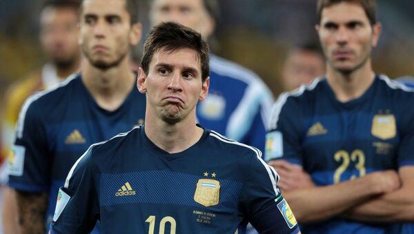 Danh thủ Lionel Messi của đội Argentina - Sputnik Việt Nam