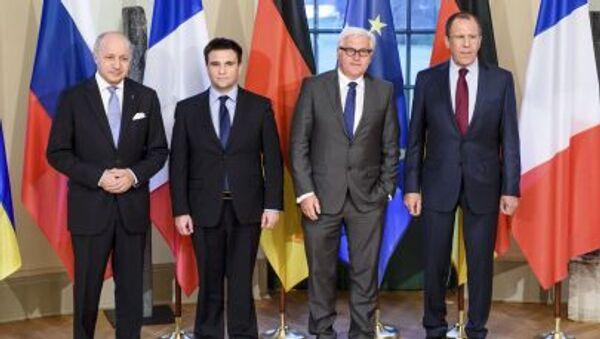 Cuộc gặp bộ tứ Normandy cấp Bộ ngoại giao tại Berlin - Sputnik Việt Nam