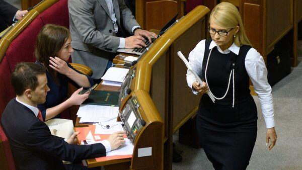 người đứng đầu đảng Tổ quốc Yulia Tymoshenko - Sputnik Việt Nam
