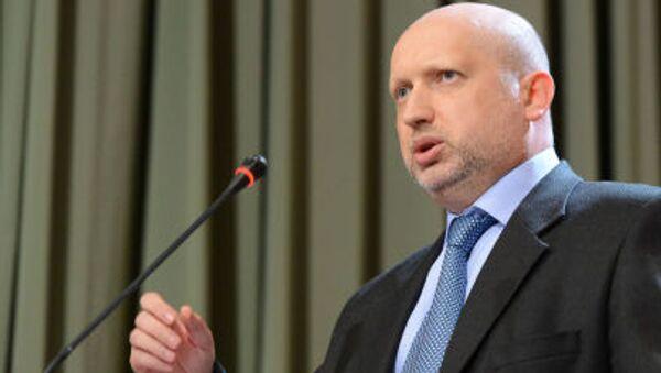 Thư ký Hội đồng An ninh và Quốc phòng của Ukraina Aleksandr Turchinov - Sputnik Việt Nam