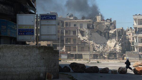 Các chiến binh bắn phá thành phố Aleppo - Sputnik Việt Nam
