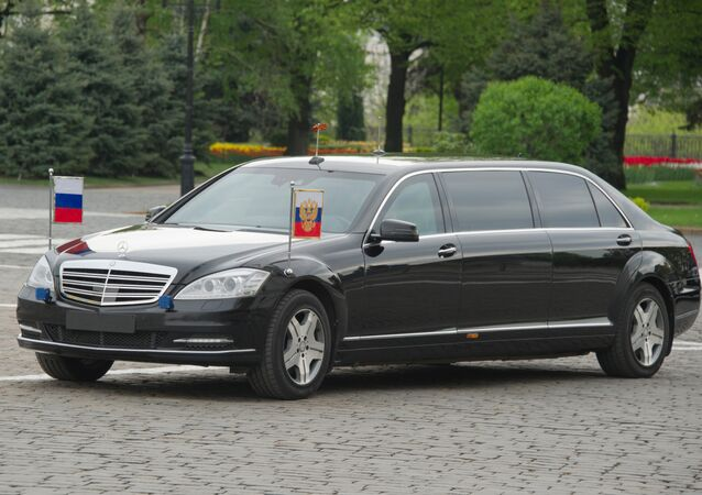 Xe của Tổng thống Vladimir Putin trong điện Kremlin