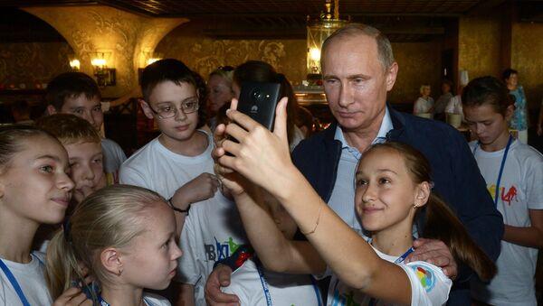 Vladimir Putin và trẻ em - Sputnik Việt Nam