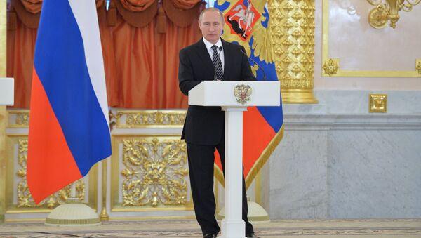 Tổng thống Vladimir Putin trong điện Kremlin - Sputnik Việt Nam