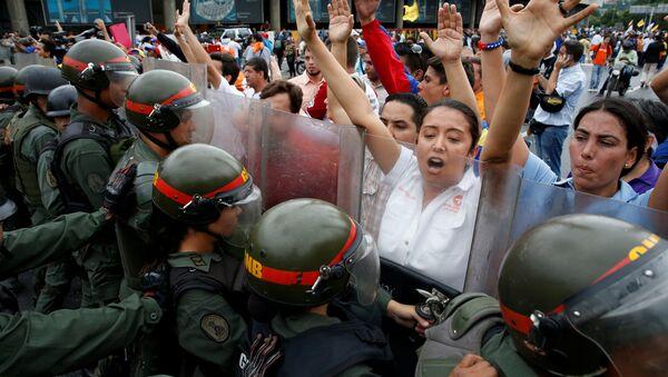 Biểu tình của nh́om đối lập ở Venezuela - Sputnik Việt Nam