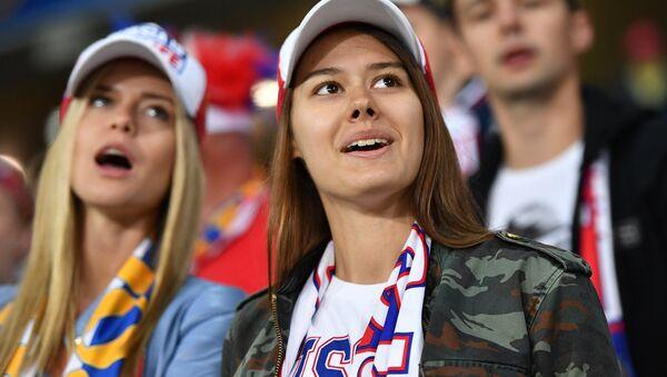 Các fan Nga tại trận đấu Nga - Slovakia - Sputnik Việt Nam