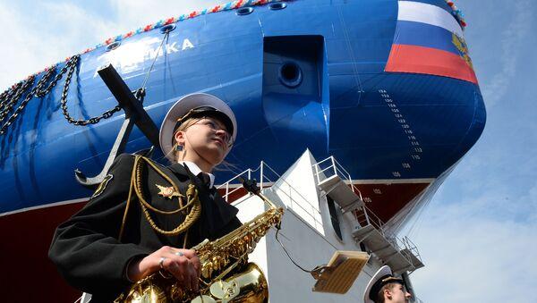 Tàu phá băng Arktika được hạ thủy - Sputnik Việt Nam