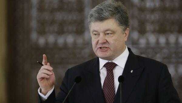 Tổng thống Ukraina Pyotr Poroshenko - Sputnik Việt Nam