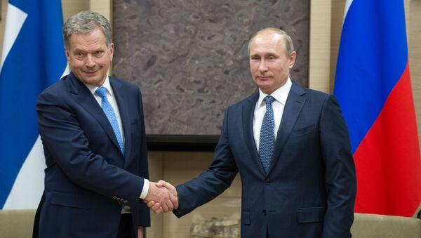 Tổng thống Phần Lan Sauli Niinisto và Vladimir Putin - Sputnik Việt Nam