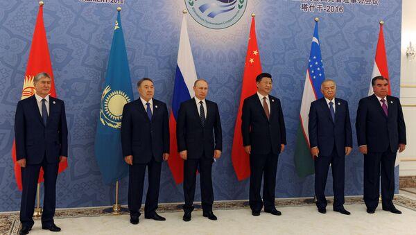 Lãnh đạo các nước thành viên Tổ chức Hợp tác Thượng Hải (SCO) tại hội nghị thượng đỉnh ở Tashkent - Sputnik Việt Nam