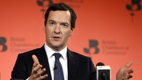 Britain's Chancellor George Osborne speaks during the British Chambers of Commerce annual conference in London (File) - Sputnik Việt Nam
