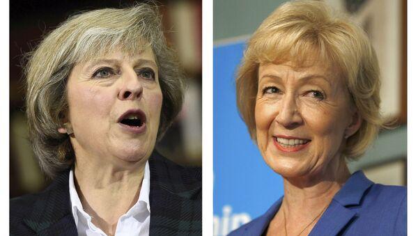 Bà Theresa May và bà Andrea Leadsom - Sputnik Việt Nam