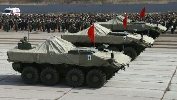 """BTR bánh lốp hạng trung """"Boomerang"""" trong thời gian diễn tập Duyệt binh mừng Chiến thắng ở ngoại ô Matxcơva - Sputnik Việt Nam"""