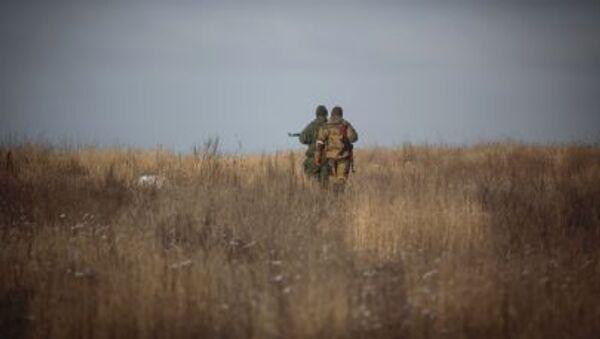 Dân quân gần làng Malaya Gorlovka tỉnh Donetsk - Sputnik Việt Nam