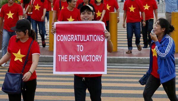 Các kiều dân người Việt trong  cuộc biểu tình ở Manila - Sputnik Việt Nam