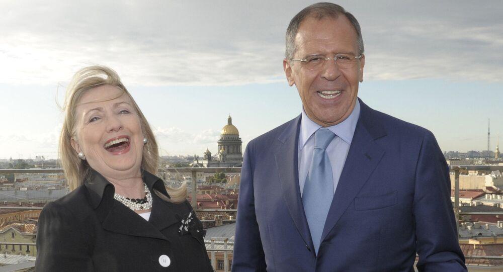 Sergei Lavrov và Hillary Clinton hội đàm tại St. Petersburg
