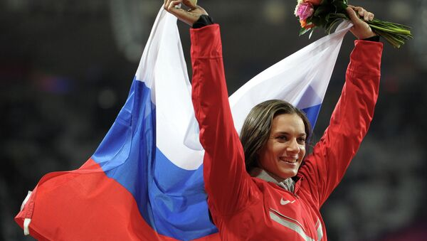 nhà vô địch hai lần Olympic nhảy sào Elena Isinbayeva - Sputnik Việt Nam