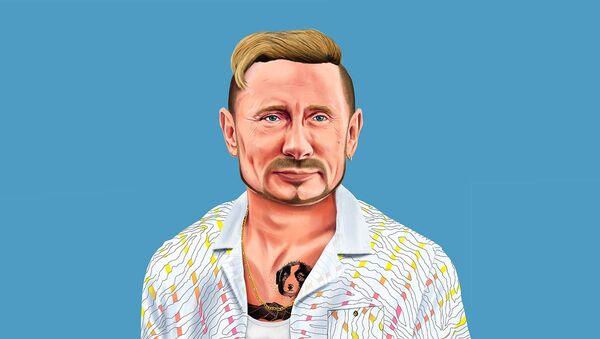Họa sĩ người Israel Amit Shimoni đã vẽ chân dung Tổng thống Nga Vladimir Putin - Sputnik Việt Nam