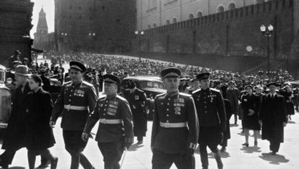 Buổi diễu hành Chiến thắng năm 1945 ở Moskva. - Sputnik Việt Nam