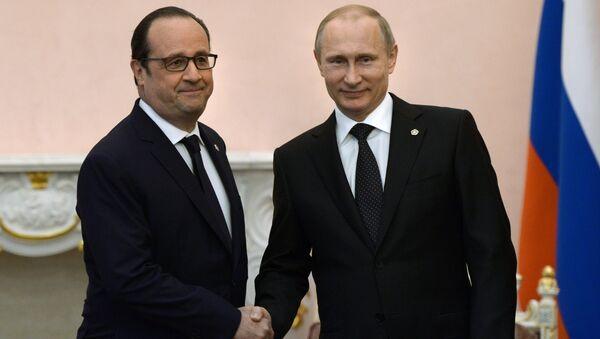 Francois Hollande và Vladimir Putin - Sputnik Việt Nam