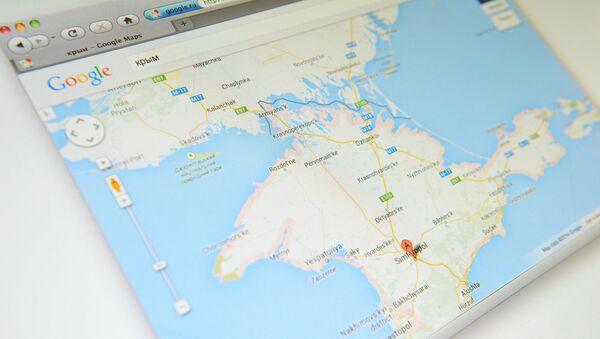 Crưm trên bản đồ Google Maps - Sputnik Việt Nam