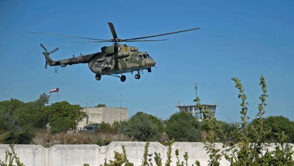 Máy bay trực thăng Mi-8 của Nga ở Syria - Sputnik Việt Nam