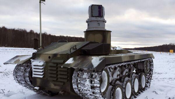 El robot ruso de combate Nerejta - Sputnik Việt Nam