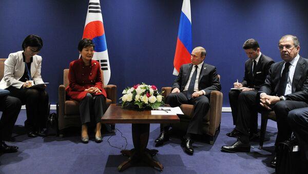 ông Putin và bà Park Geun-hye - Sputnik Việt Nam