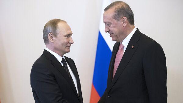 Vladimir Putin và Tayyip Erdogan - Sputnik Việt Nam