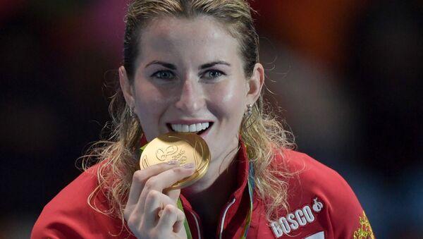 Đại diện của Nga Inna Deriglazova đã giành chiến thắng trong môn đấu kiếm tại Thế vận hội Olympic 2016 ở Rio de Janeiro - Sputnik Việt Nam