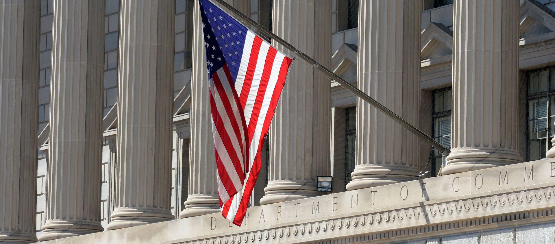 Quốc kỳ Mỹ trên tòa nhà Bộ thương mại đất nước - Sputnik Việt Nam, 1920, 22.11.2017