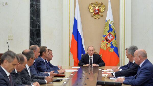 Ông Putin họp bàn với Hội đồng An ninh về tình hình trị an sau âm mưu khủng bố ở Crưm - Sputnik Việt Nam