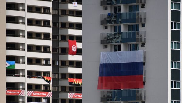 Cờ Nga bị gỡ trong Làng Olympic - Sputnik Việt Nam