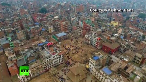 Hậu quả tàn phá của trận động đất ở Nepal - Sputnik Việt Nam