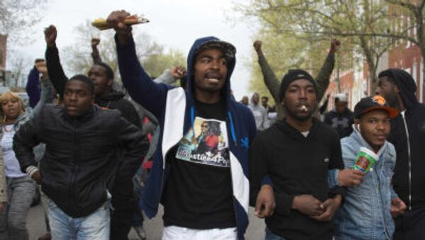 Các cuộc biểu tình phản đối ở Baltimore  - Sputnik Việt Nam