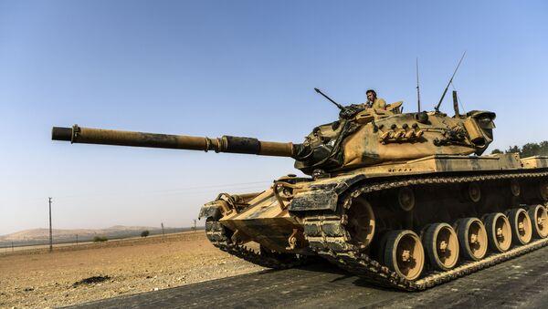 Xe tăng của Thổ Nhĩ Kỳ ở Syria - Sputnik Việt Nam