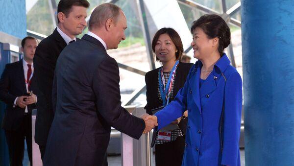 Vladimir Putin và Park Geun-hye - Sputnik Việt Nam