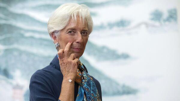 Chủ tọa-Giám đốc Quỹ Tiền tệ Quốc tế Christine Lagarde trước nghi lễ tiếp tân trọng thể nhân danh Chủ tịch Trung Quốc vinh danh các Trưởng phái đoàn đại biểu dự Hội nghị thượng đỉnh G20 - Sputnik Việt Nam