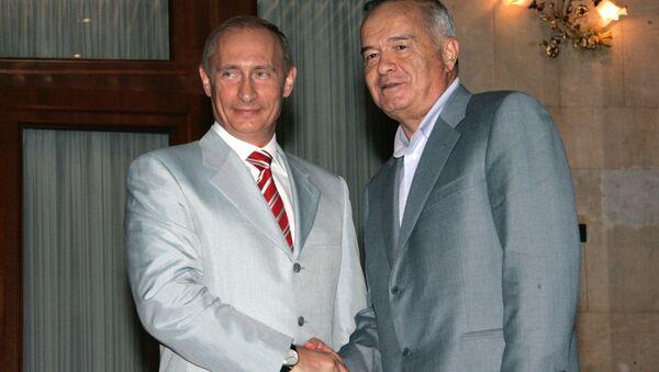 Президенты России и Узбекистана Владимир Путин и Ислам Каримов - Sputnik Việt Nam