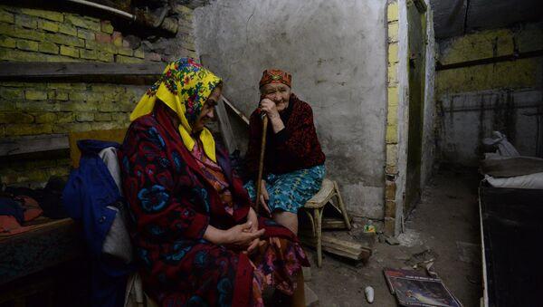 Phụ nữ già cuả tỉnh Donetsk - Sputnik Việt Nam