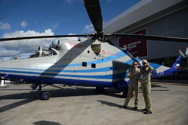 """Phòng thí nghiệm bay của trực thăng tốc dộ triển vọng tại Diễn đàn quốc tế về kỹ thuật-quân sự  """"Quân đội-2016"""" - Sputnik Việt Nam"""