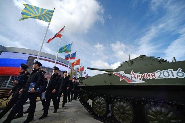 """Khai mạc Diễn đàn quốc tế về kỹ thuật-quân sự  """"Quân đội-2016"""" - Sputnik Việt Nam"""
