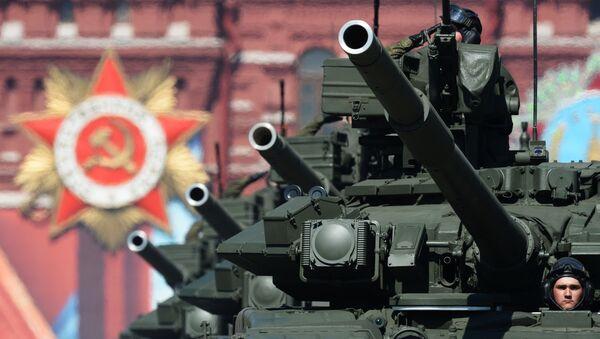 Xe tăng chiến đấu chủ lực T-90A trong cuộc diễu binh trên Quảng trường Đỏ - Sputnik Việt Nam